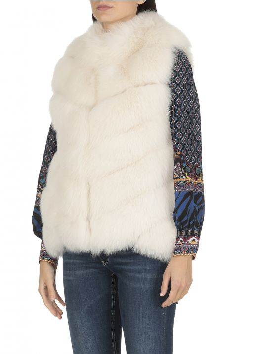 Fox fur and Shearling lamb Waistcoat