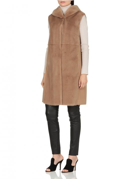 Tricot mink and cashmere waistcoat