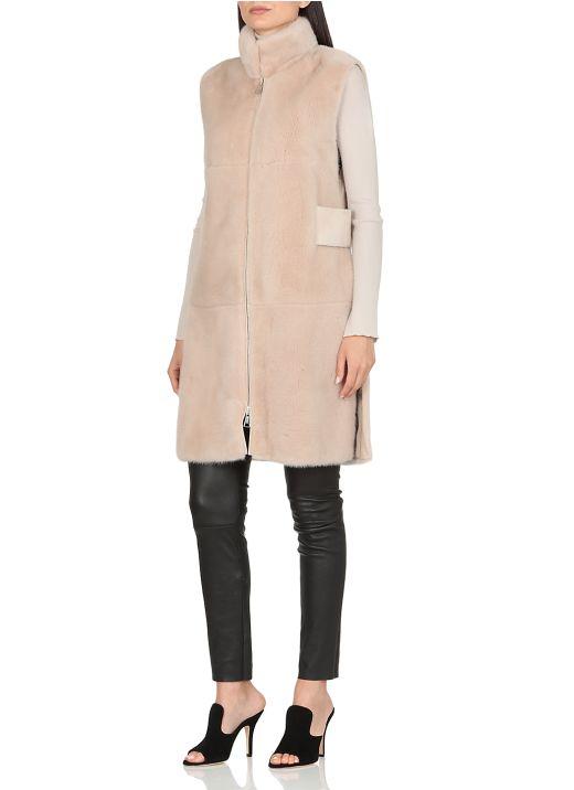 Mink waistcoat