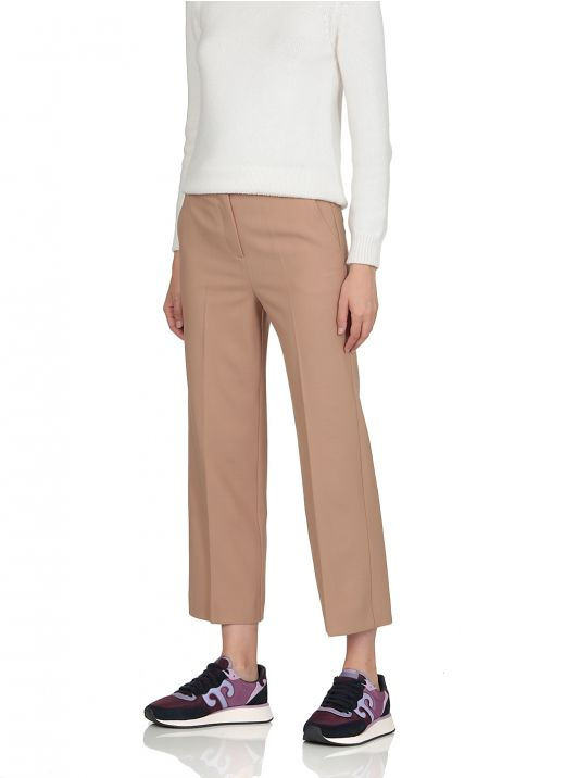 Straight bottomed trousers