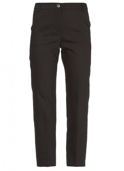 Cotton blend tailored trousers