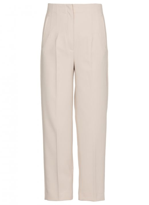 High waisted stretch trousers