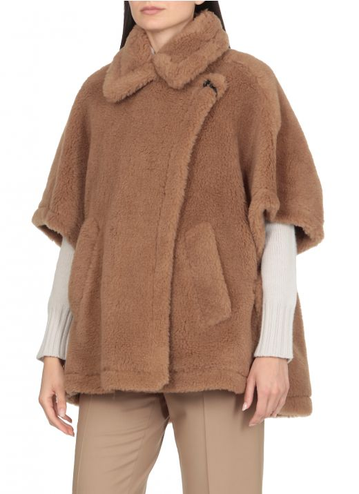 Camel and silk cape