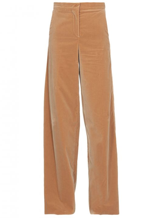 Velvet palazzo trouser