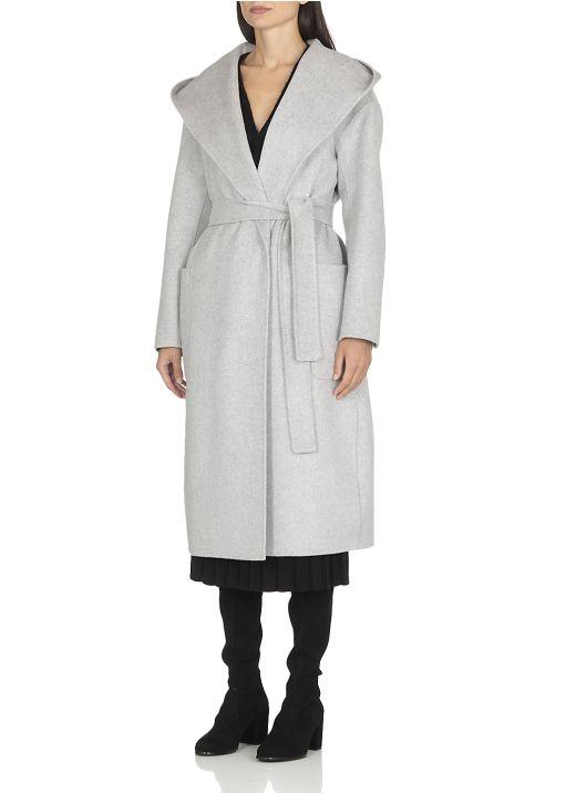 Cappotto lungo in lana e cachemire