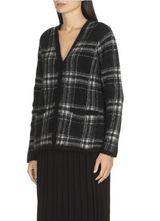 Cardigan di maglia in mohair e lana