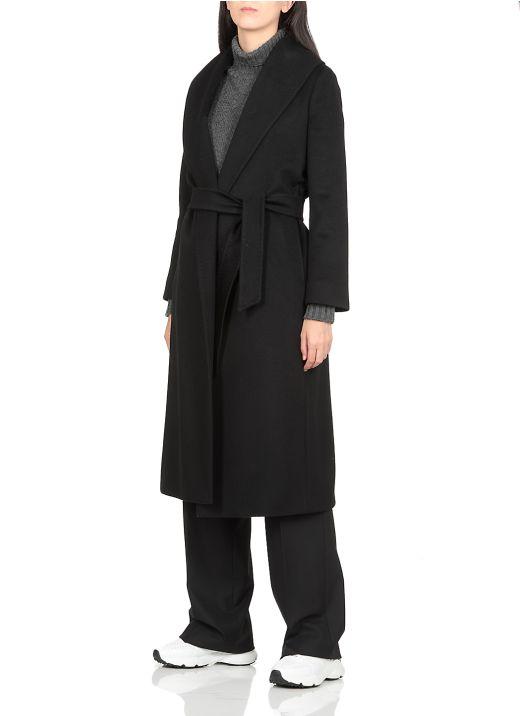 Virgin wool long coat