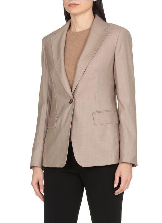 Virgin wool and silk jacket