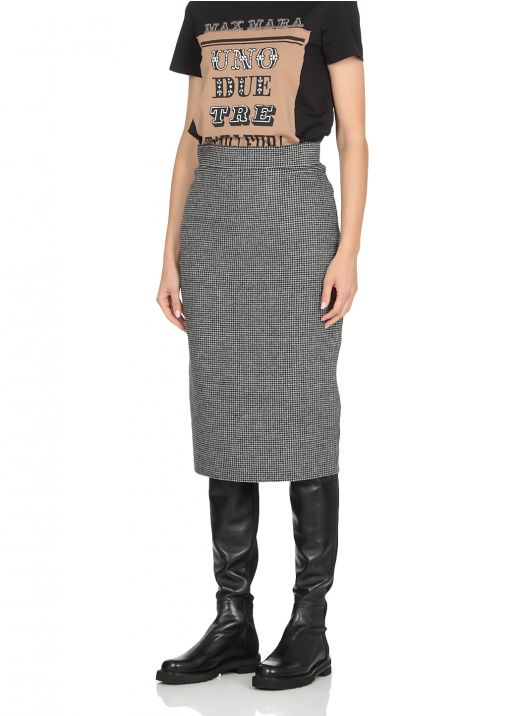 Houndstooth printed skirt