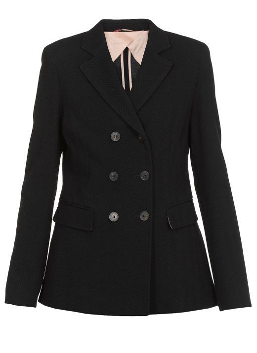 Jacquard wool jacket