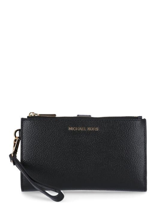 Pebbled leather Jet Set wallet