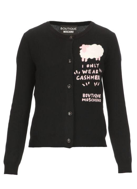 Sheep cashmere blend cardigan