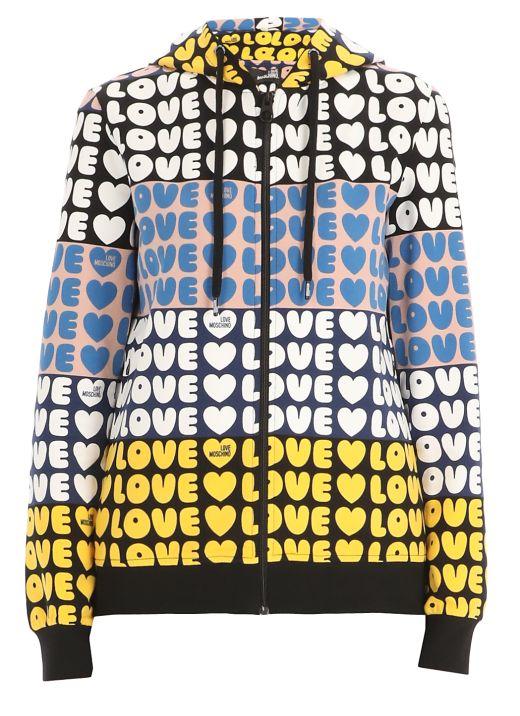 Felpa con logo Love