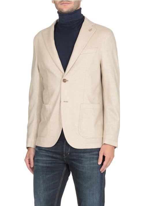 Cashmere one-breasted blazer