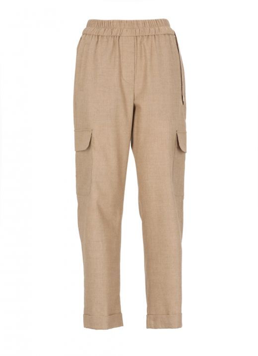 Wool blend trouser