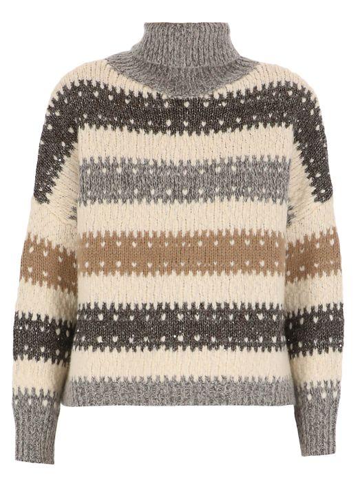 Wool crop sweater