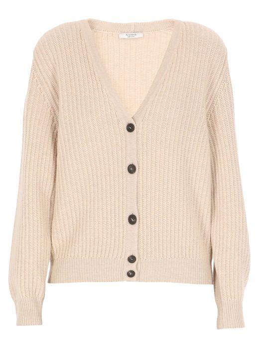 Cardigan di maglia in lana