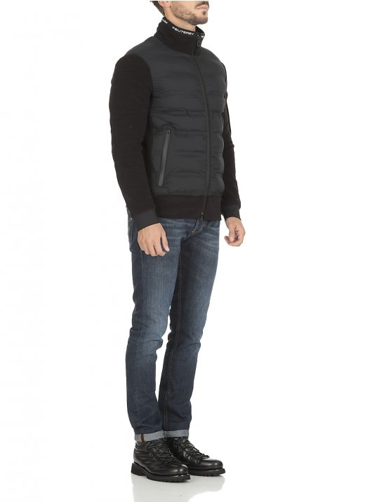 Double fabric down jacket