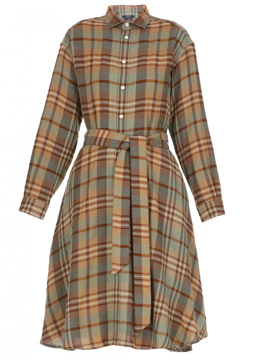 Wool chemisier dress