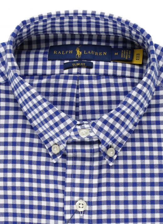 Custom-Fit Oxford checked shirt