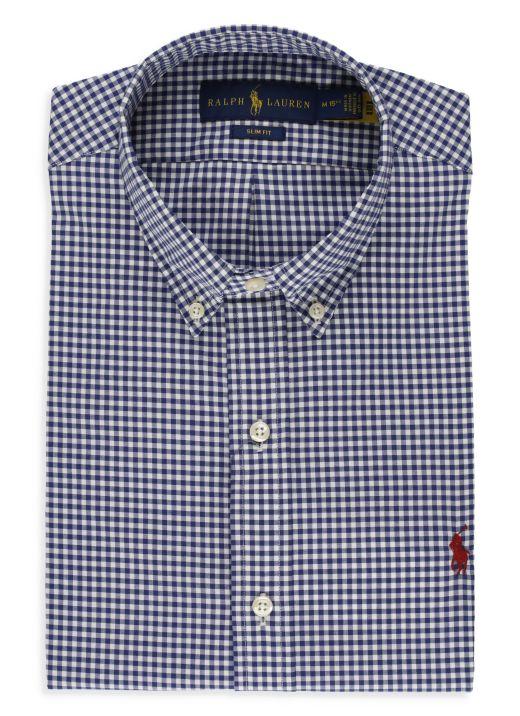 Checked Custom-Fit shirt