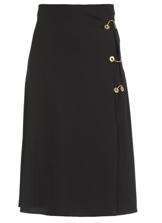 Diagonal virgin wool skirt