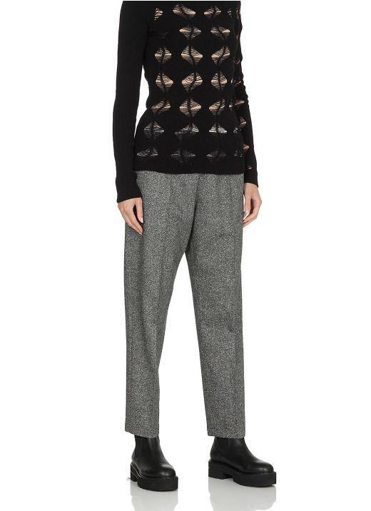 Virgin wool and silk pants