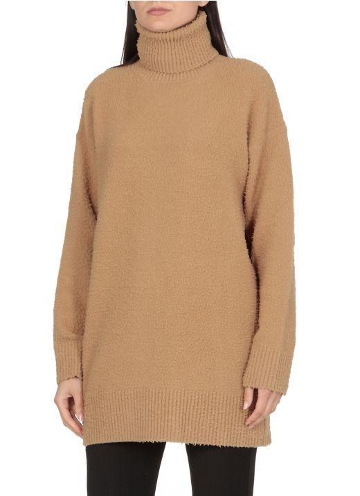 Wool high neck sweater