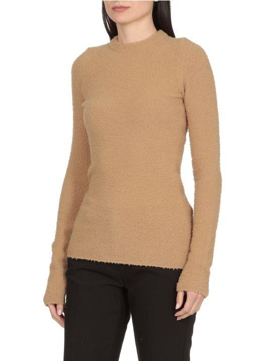 Wool and angora sweater