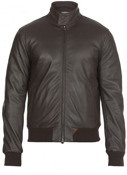 Nuvola leather down jacket