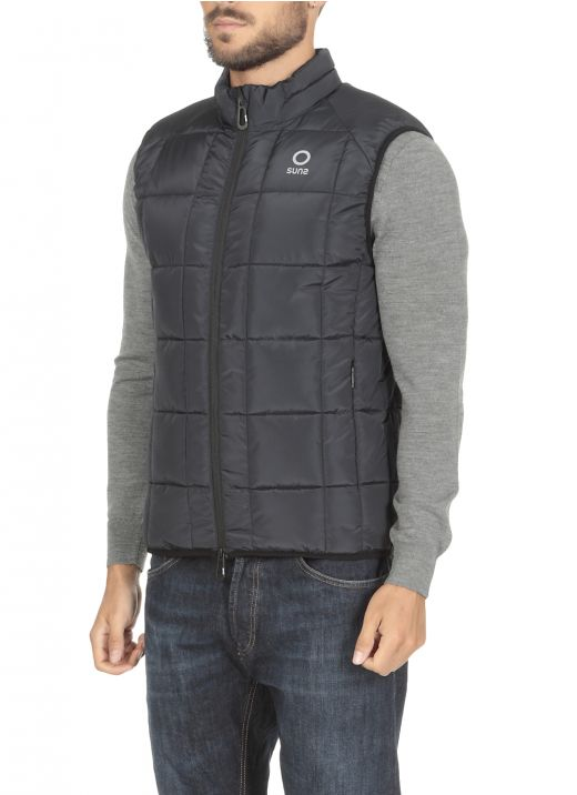Padded and quilted gilet