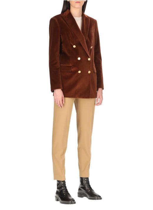 Velvet double breasted jacket