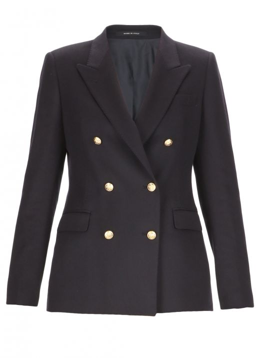Cashmere double breasted jacket