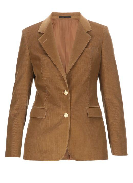 Gabardine mono breasted jacket