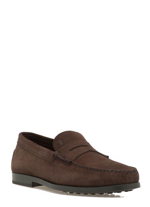 Nabuk leather loafer