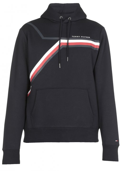 Hoodie with iconic tape