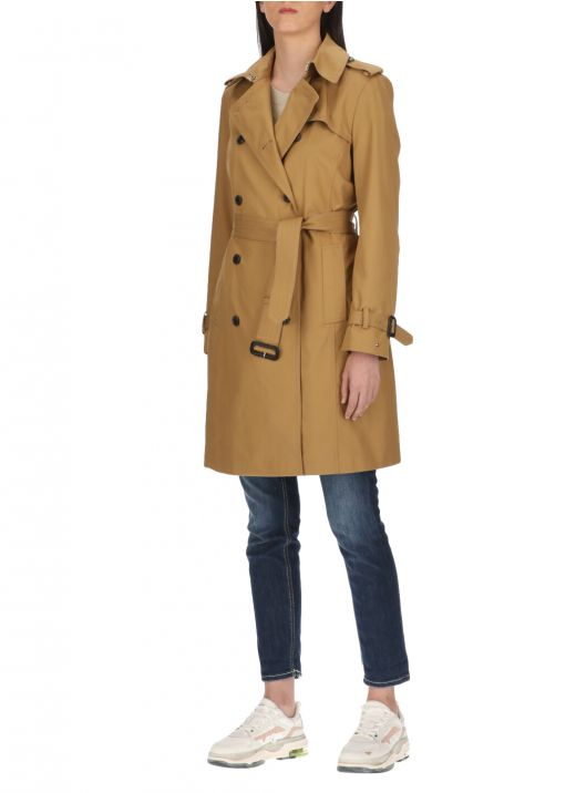 Waterproof double breasted trench coat
