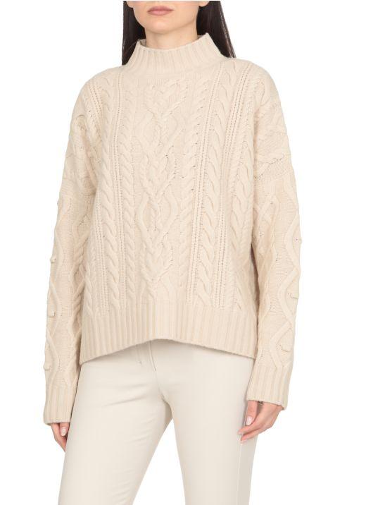 Virgin wool oversize sweater