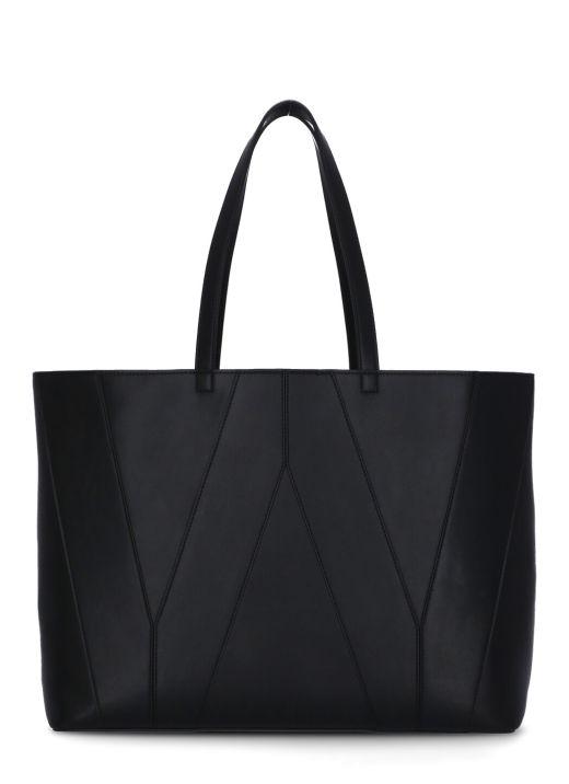 Shopping bag in pelle