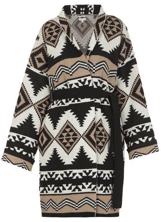 Jacquard pattern cardigan