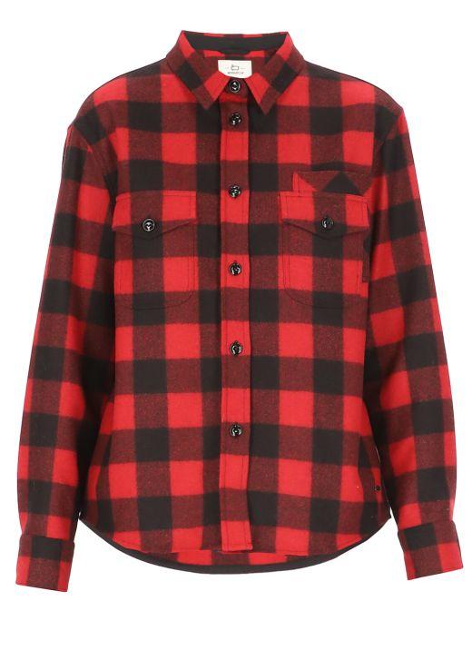 Wool blend Patchwork shirt