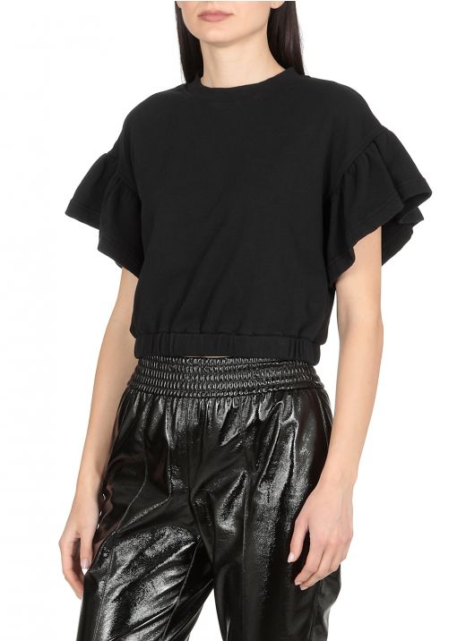 Top cropped in cotone