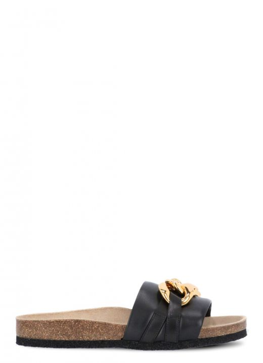 Smooth leather sandal