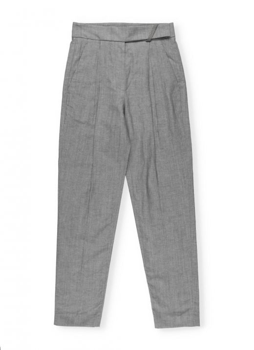 Virgin wool and linen Tailored trousers