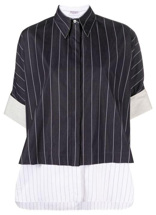 Cotton striped shirt