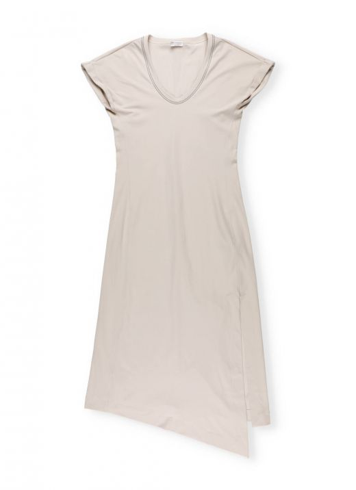 Cotton jersey couture dress