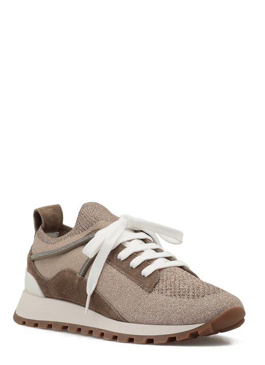 Lurex knitted sneaker
