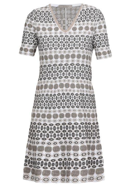 Midi dress with geometric pattern