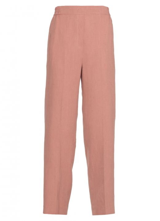 Silk and linen blend pants