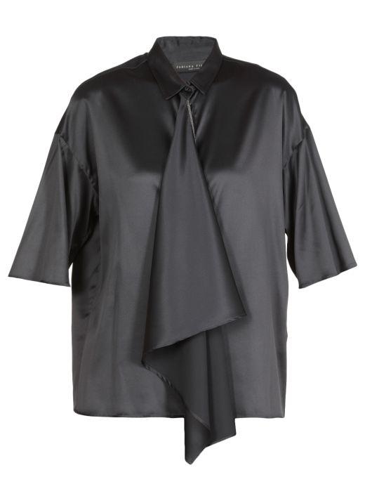 Silk satin fabric shirt